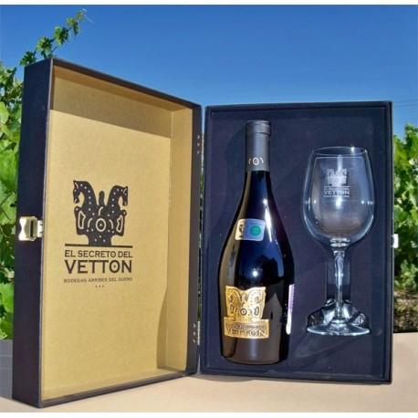 Vino Secreto Vetton + Copa + Estuche